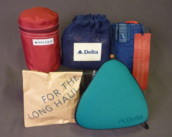Variety of Delta amenity kits from early 2000s-2014.