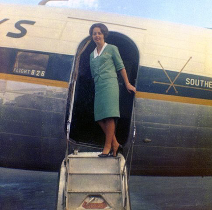 Southern Airways Stewardess Sharron Stine