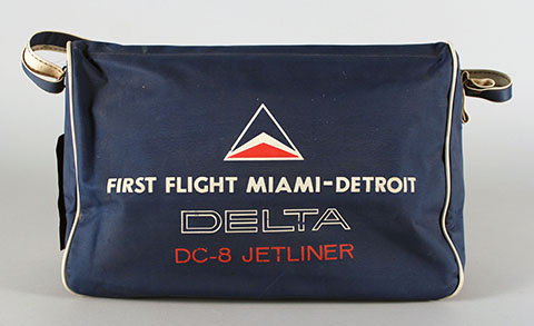 Delta MIA-DTW inaugural flight bag