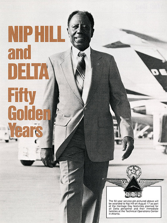 Nip Hill Delta's first 50-year employee, 1985