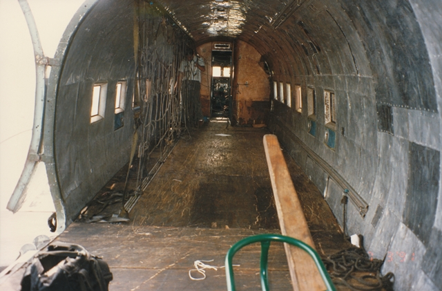 Ship 41 cabin before restoration