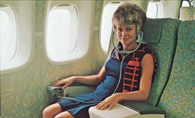 Boeing 747 in-flight entertainment headset 1970