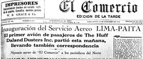Peru Newspaper Article 13 Sept 1928