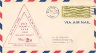 Airmail first flight cover, Monroe, 1934