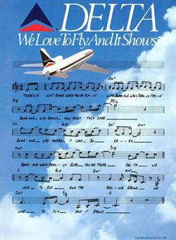 We Love to Fly and It Shows Sheet Music Ad