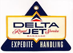 Royal Jet Service Baggage Tag 1959