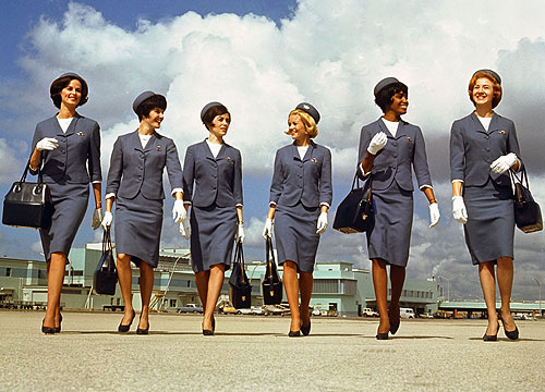 6bb8ba69413 Flight Attendant Jet Age Uniforms 1959-2001