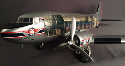 Delta DC-3 Cutaway Model Airplane