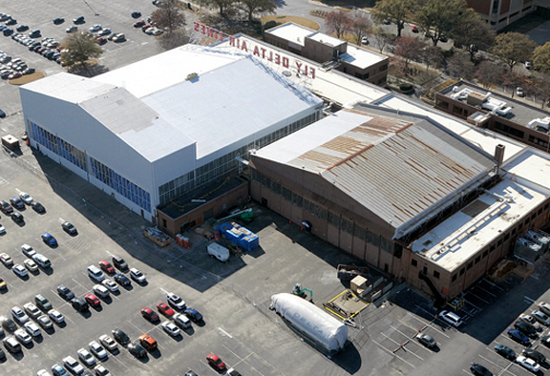 11-30-13 Aerial photo of the Delta Flight Museum