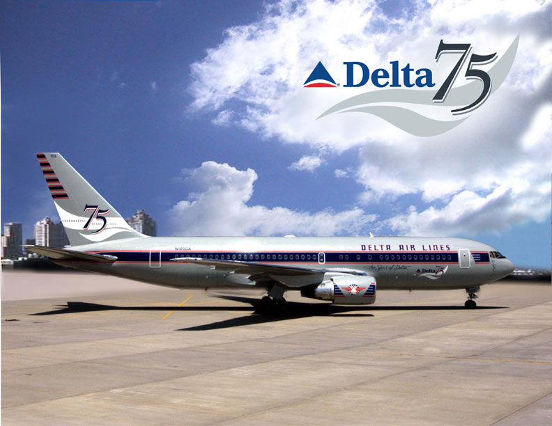 Spirit in Delta 75th anniversary livery