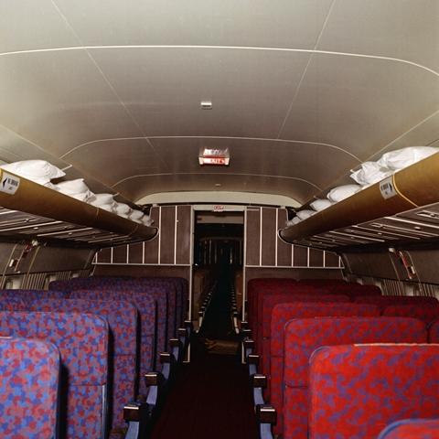 File:SAS DC-8-33 Interior and design before delivery, cabin, new ...