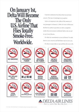 Smoke free airline ad 1994