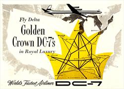Fly Delta Golden Crown DC-7s ad detail