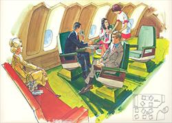Delta 747 Penthouse illustration