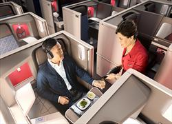 Delta One Suite_meal_service