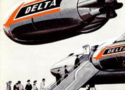 Delta Timetable, 2/1/1962 cover